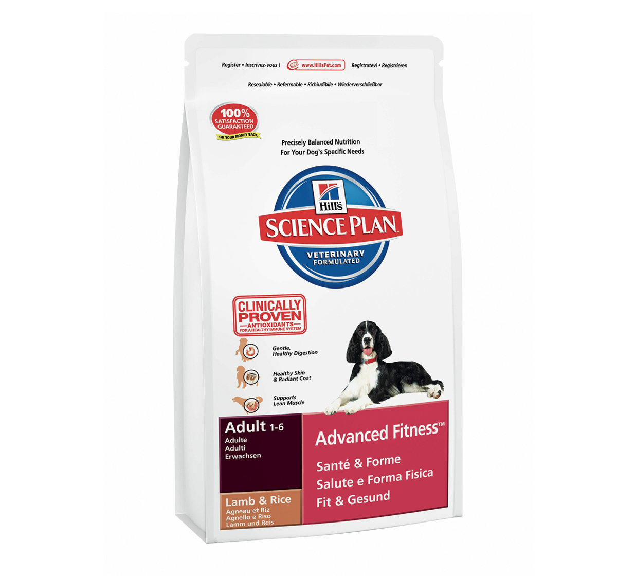 Hills Canine Adult Advanced Fitness Lamb & Rice 12+2,5kg.