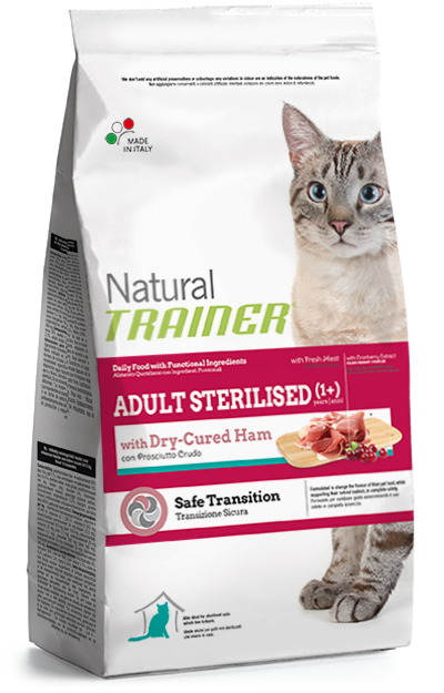 Trainer Natural Cat Adult with Dry-Cured Ham 1,5kg.