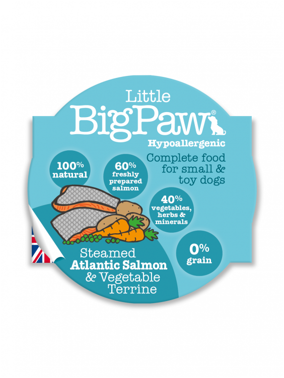 Konservai Šunims Big Paw Atlantic Salmon & Vegetables 150gr