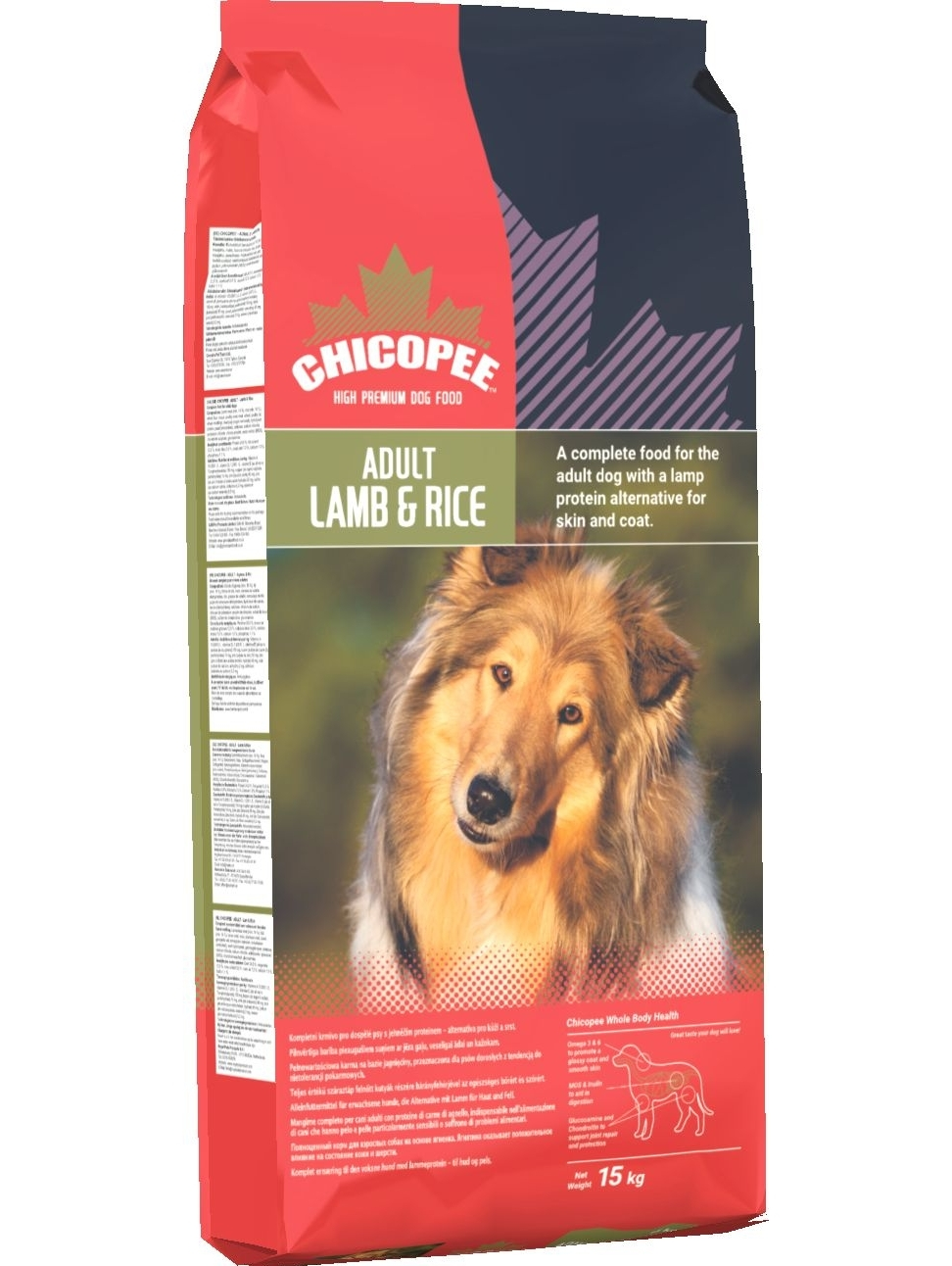 CHICOPEE Adult Lamb and Rice 15+2kg.