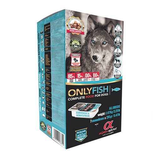Alpha Spirit Dog Food ONLY FISH begrūdis maistas šunims 9,5 kg
