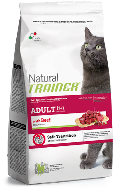 Trainer Natural Adult Cat with Beef 3kg.