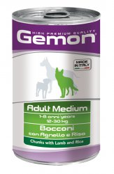 Gemon Adult Maxi Lamb and rice konservai 1250gr