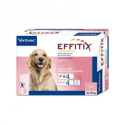 Virbac Effitix lašai šunims 20-40 kg svorio 4vnt.