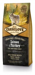 Begrūdis Šunų Maistas Carni Love Salmon&Turkey Adult Large Breed 12kg