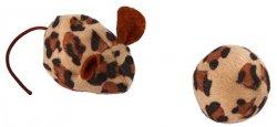 Žaislas katei pelė ir kamuoliukas su katžole
