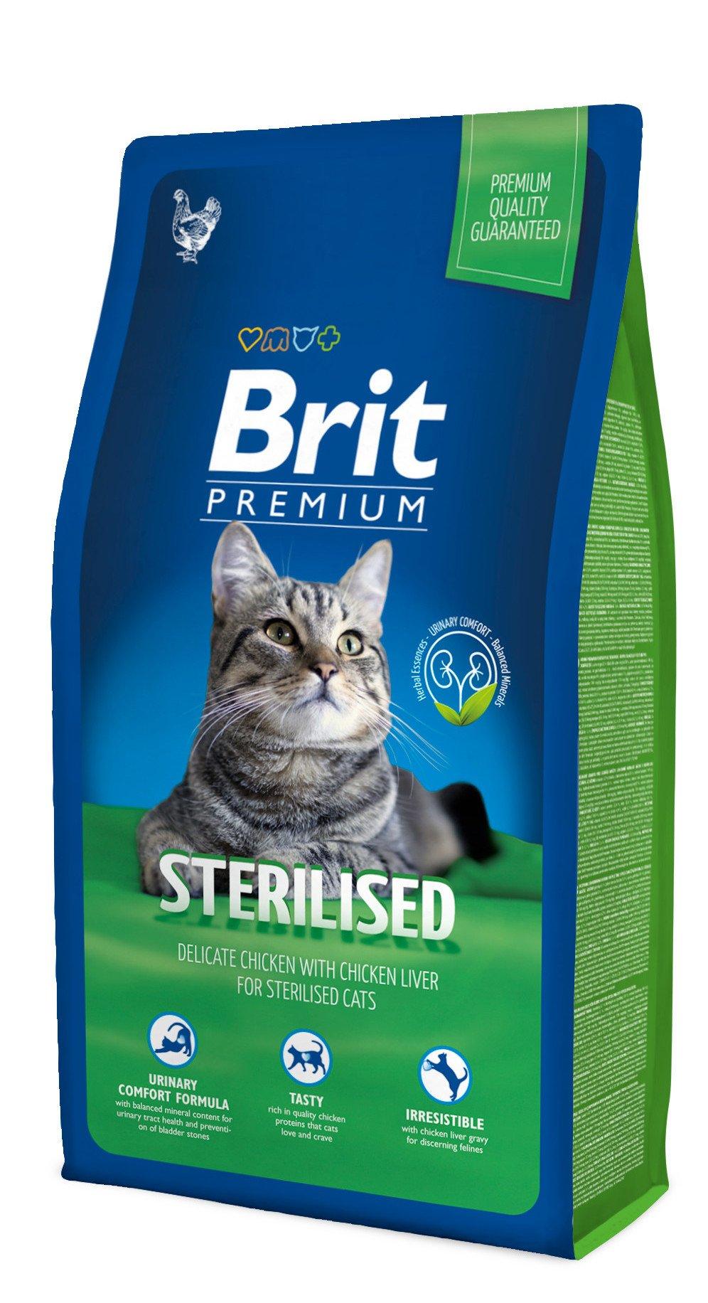 Kačių maistas Brit premium Cat Sterilized 8kg.