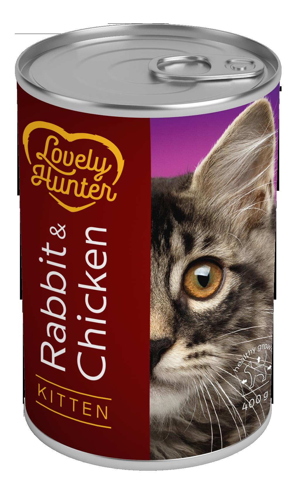 Lovely Hunter Kitten Rabbit & Chicken 400gr