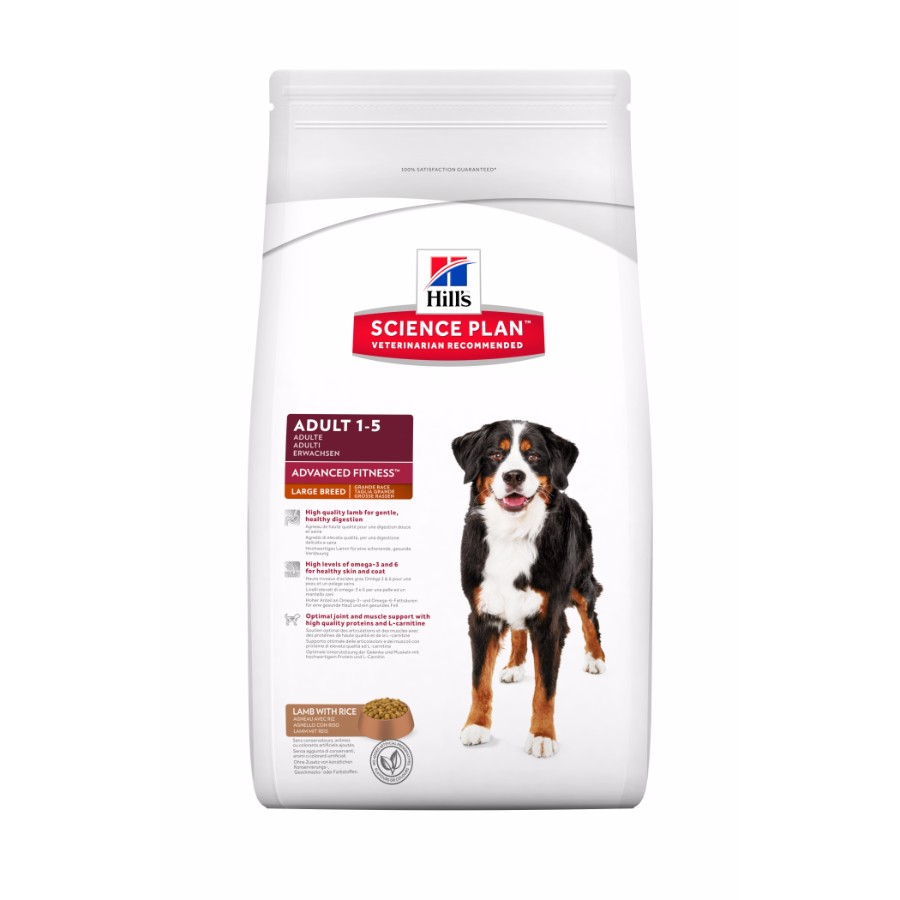 Hills Canine Adult Lamb Rice Large Breed 12+2,5kg