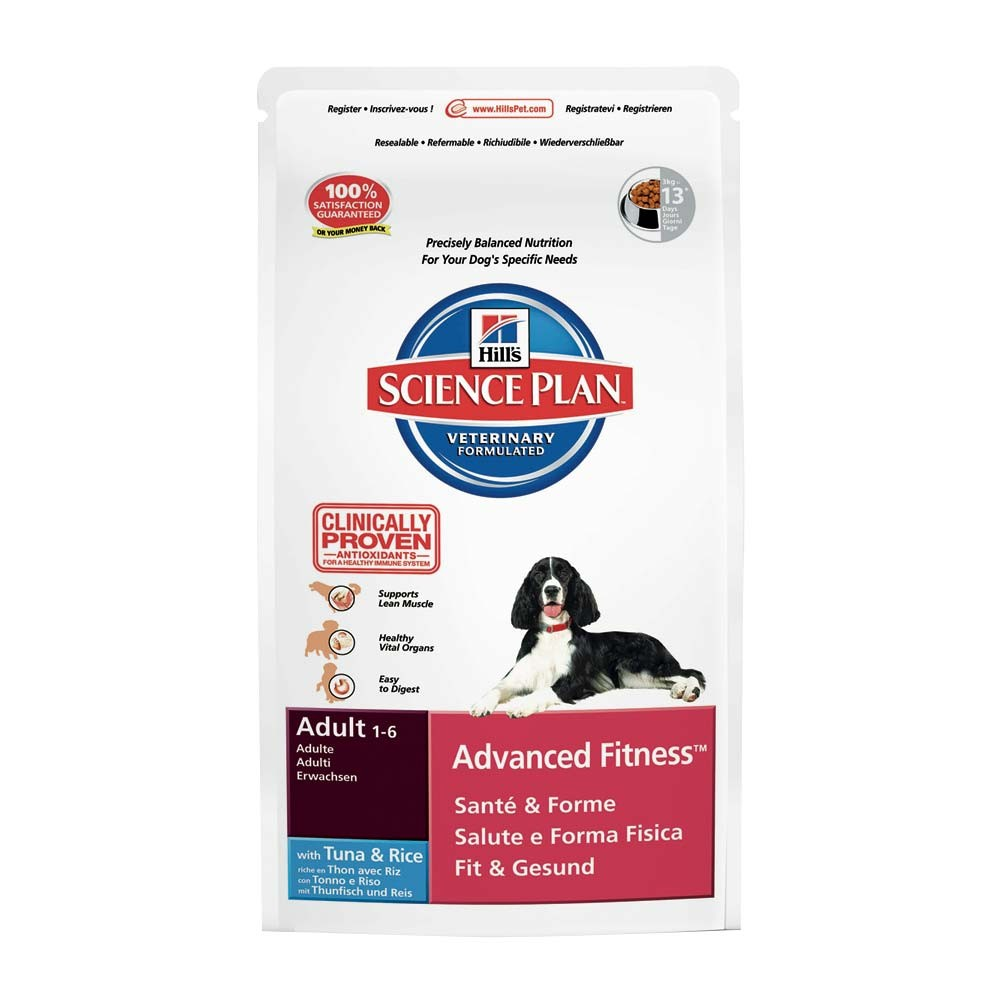 Hills  Canine Adult Advanced Fitness Tuna & Rice 12kg.