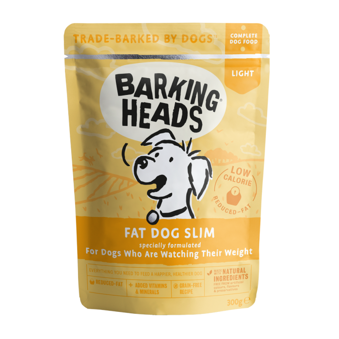 Barking Heads Wet Pouch Fat Dog Slim 300g