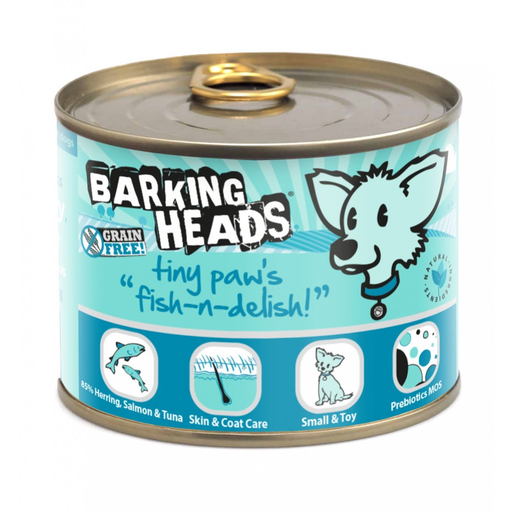 Barking Heads Tiny Paws Fish-n-Delish 200gr