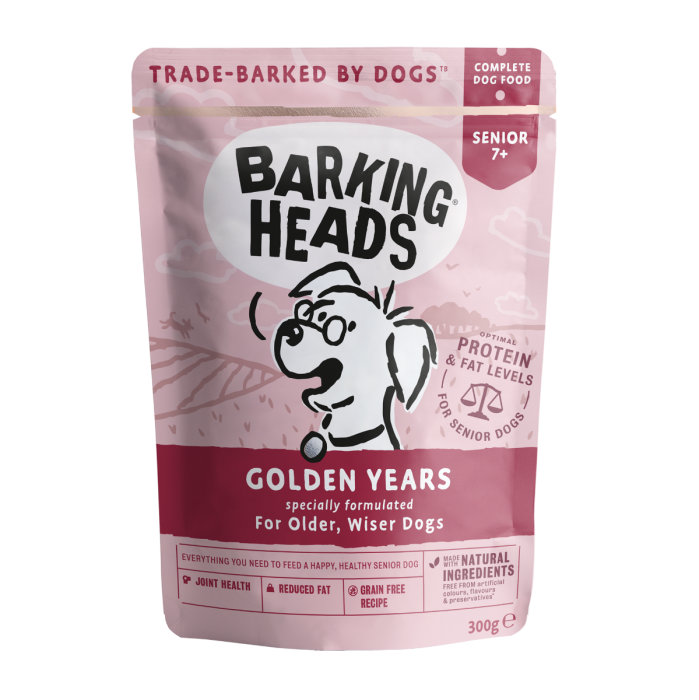 Barking Heads Wet Pouch Golden Years 300g