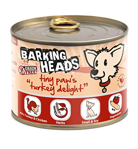 Barking Heads Tiny Paws Turkey Delight 200gr