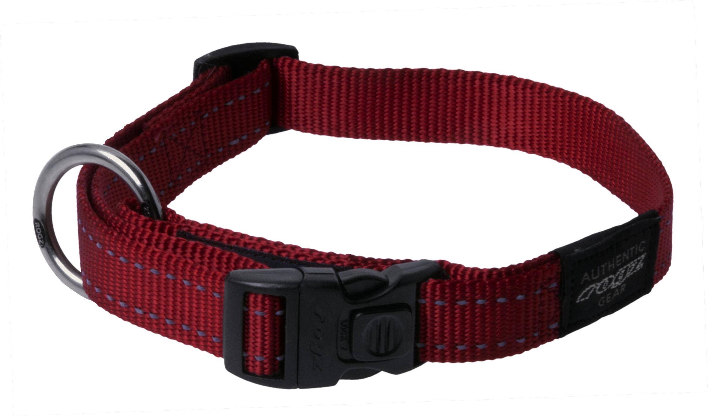 Rogz antkaklis HB06C 34-56-2cm red
