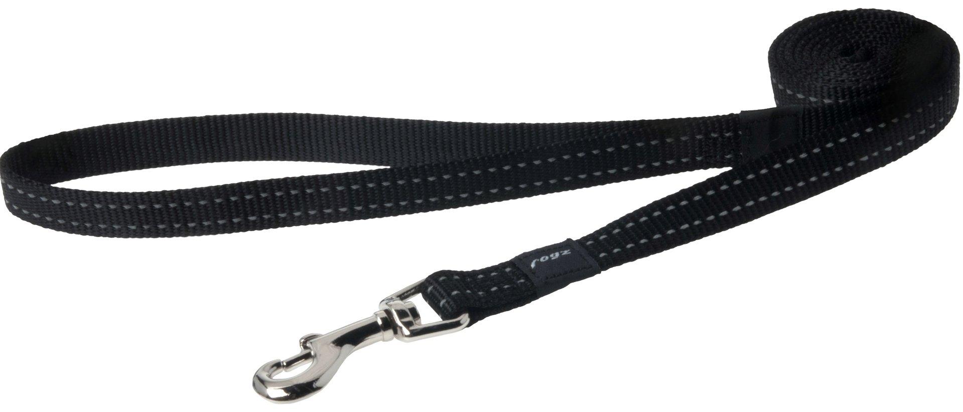 Rogz pavadys su atšvaitu HL11A Black 1,4m-1,6cm
