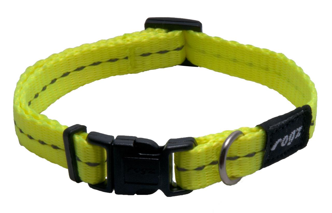 Rogz antkaklis HB14H Yellow 20-32cm