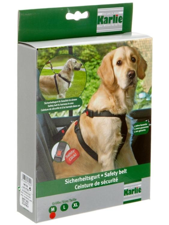 Automobilinės saugos petnešos šunims M dydis