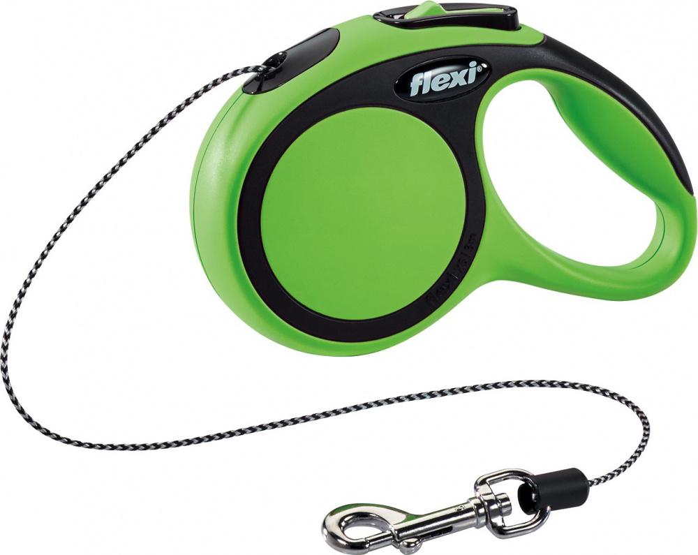 Flexi New Comfort XS Virvelė Žalias 3m/8kg