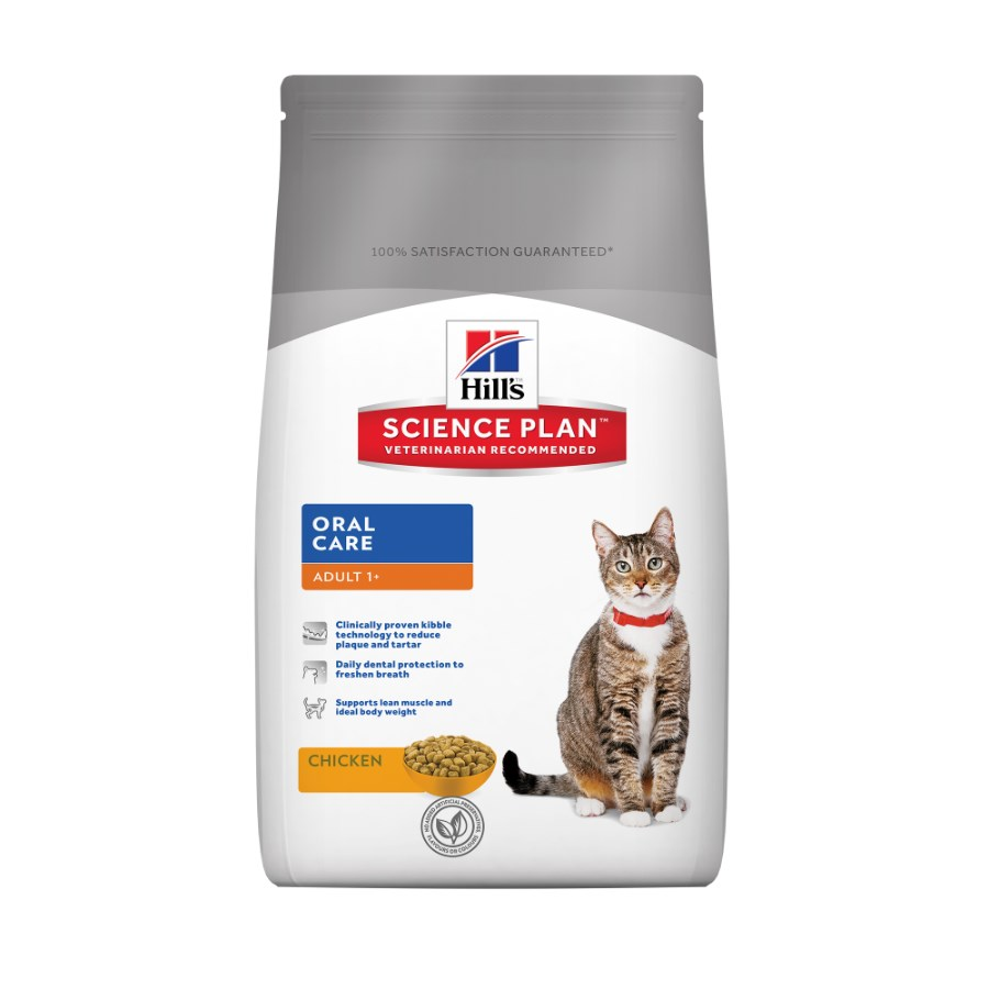 Kačių maistas Hills  Feline Adult Oral Care Chicken 5kg.