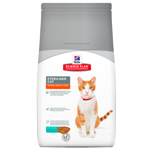 Kačių maistas Hills Feline Sterilised Young Adult Cat Tuna 3,5kg.