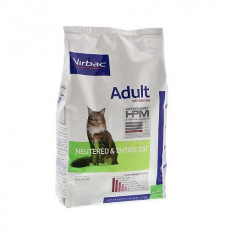 Virbac HPM Adult Neutered and Entire CAT with salmon 3kg