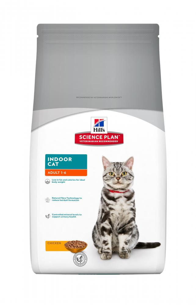 Kačių maistas Hills Feline Adult Indoor Cat Chicken 4kg.