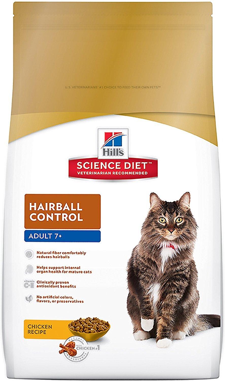 Kačių maistas Hills Feline Mature Adult 7+ Hairball Control 1,5kg.
