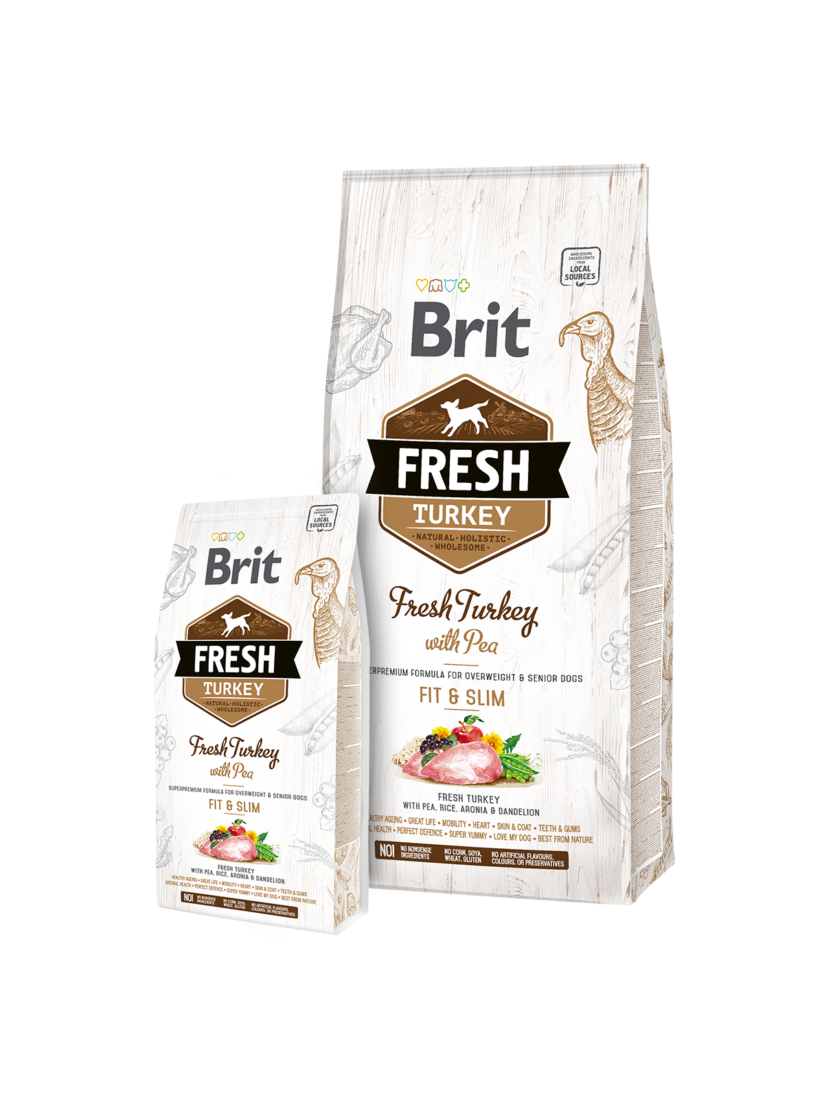 Brit Fresh Turkey with Pea Light Fit&Slim 2,5kg