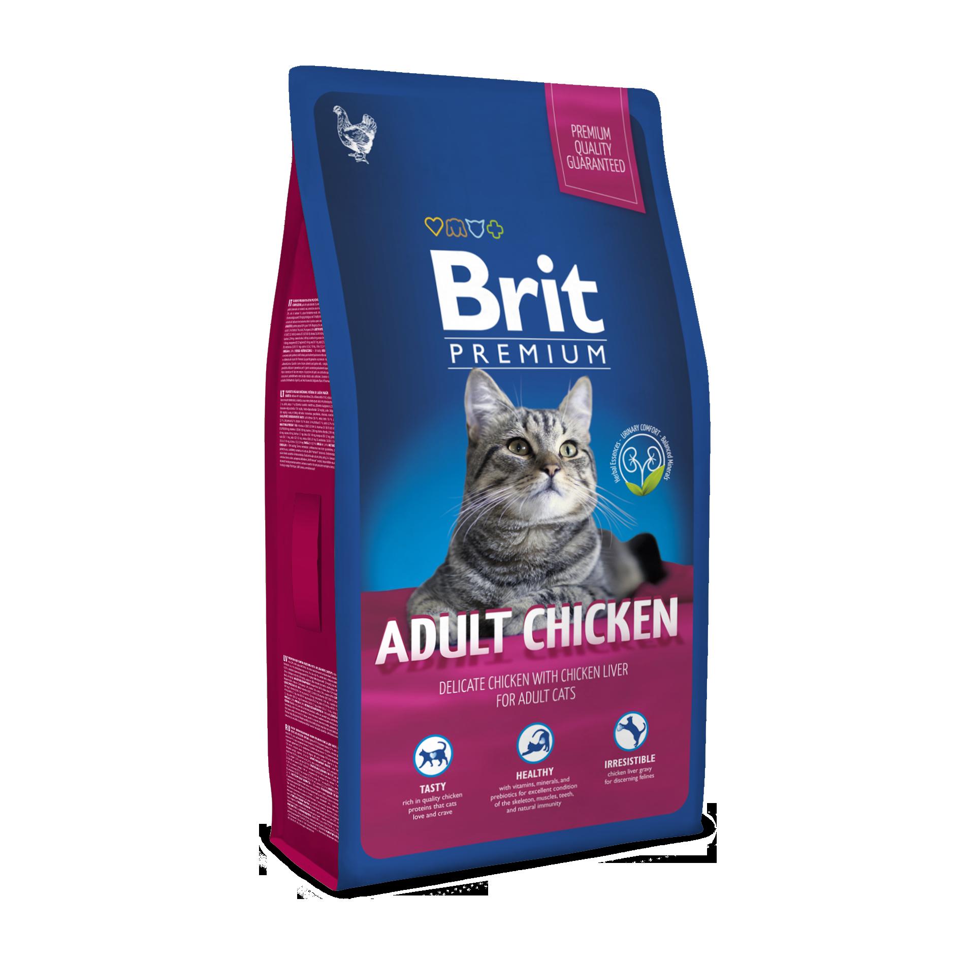 Kačių maistas BRIT Premium Cat Adult Chicken  8kg.