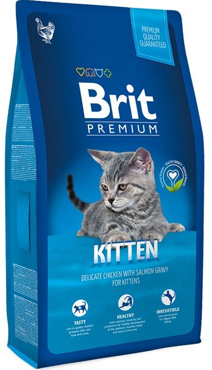 Kačių maistas BRIT Premium Cat Kitten  8kg.