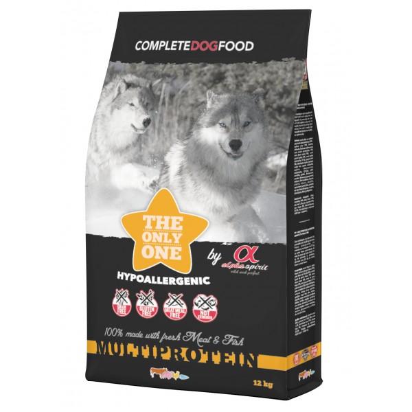Begrūdis maistas šunims Alpha Spirit Multi Protein 12kg