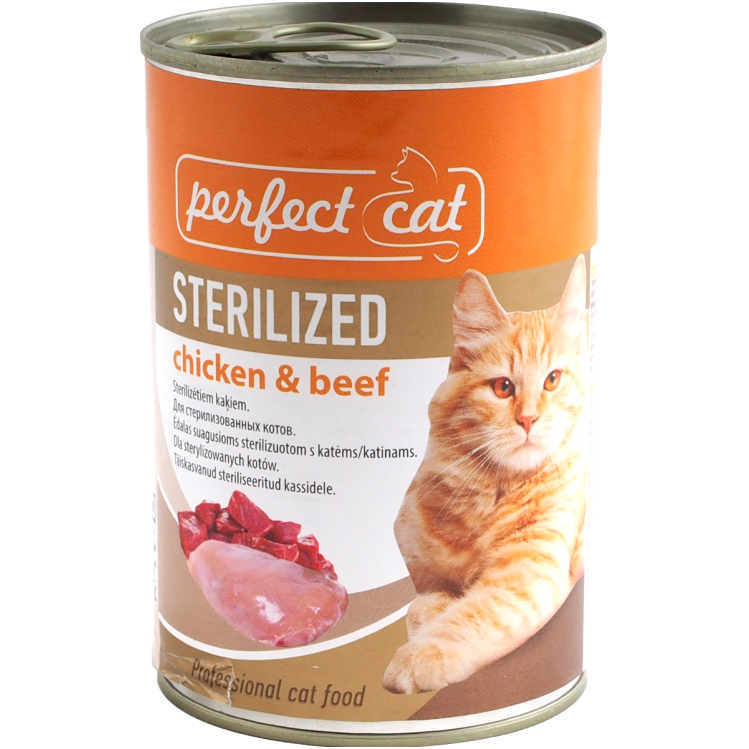 Perfect cat konservai chicken&beef sterilizet 400gr