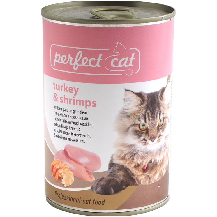 Perfect Cat Turkey & Shrimps konservai katėms 400gr