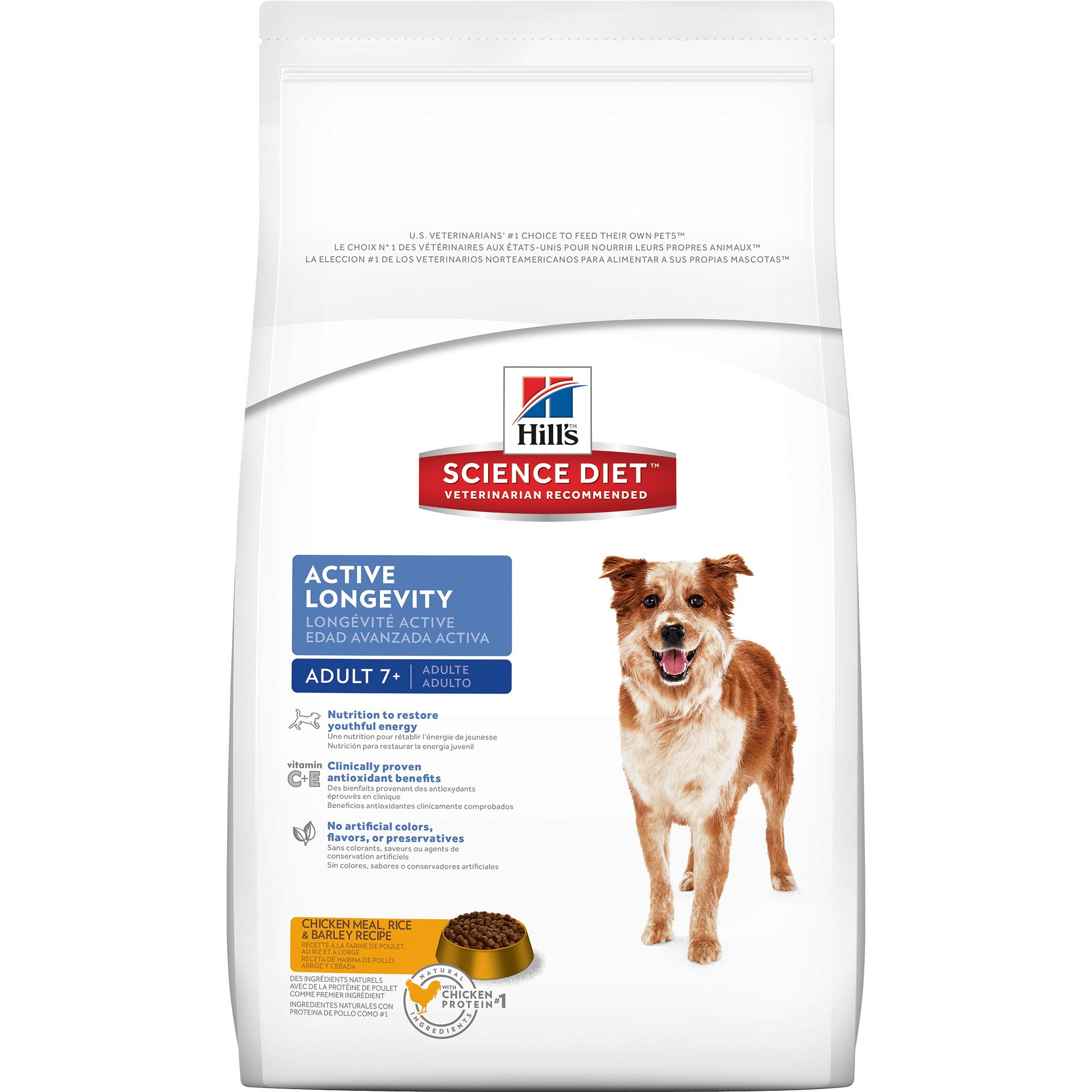 Hills Canine Senior Active Longevity Chicken 12kg.