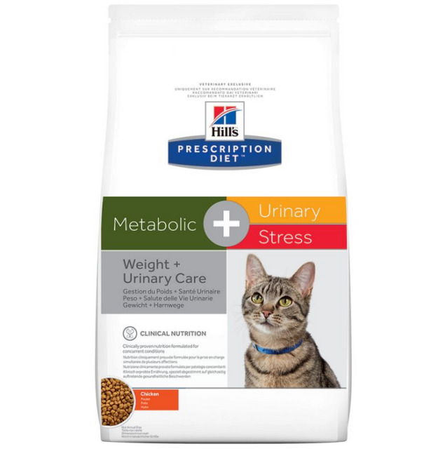 Hills Prescription Diet Feline Metabolic+Urinary Stress 4kg.