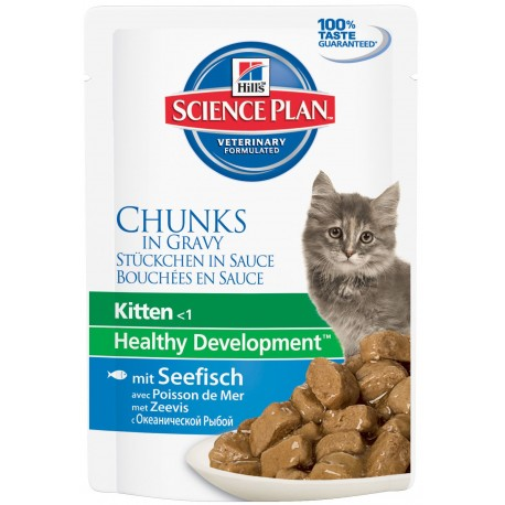Hills Science Plan Feline Kitten Ocean Fish guliašas 12 x 85gr.