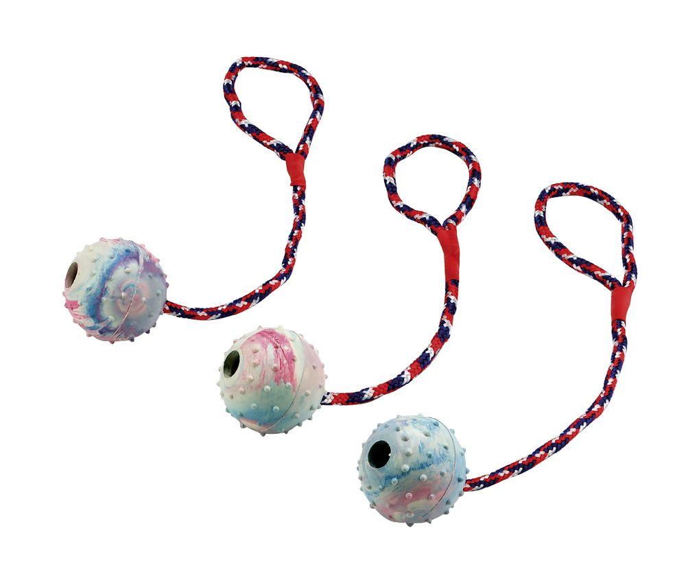 TRIXIE gum. kamuolys su virve 6/30cm