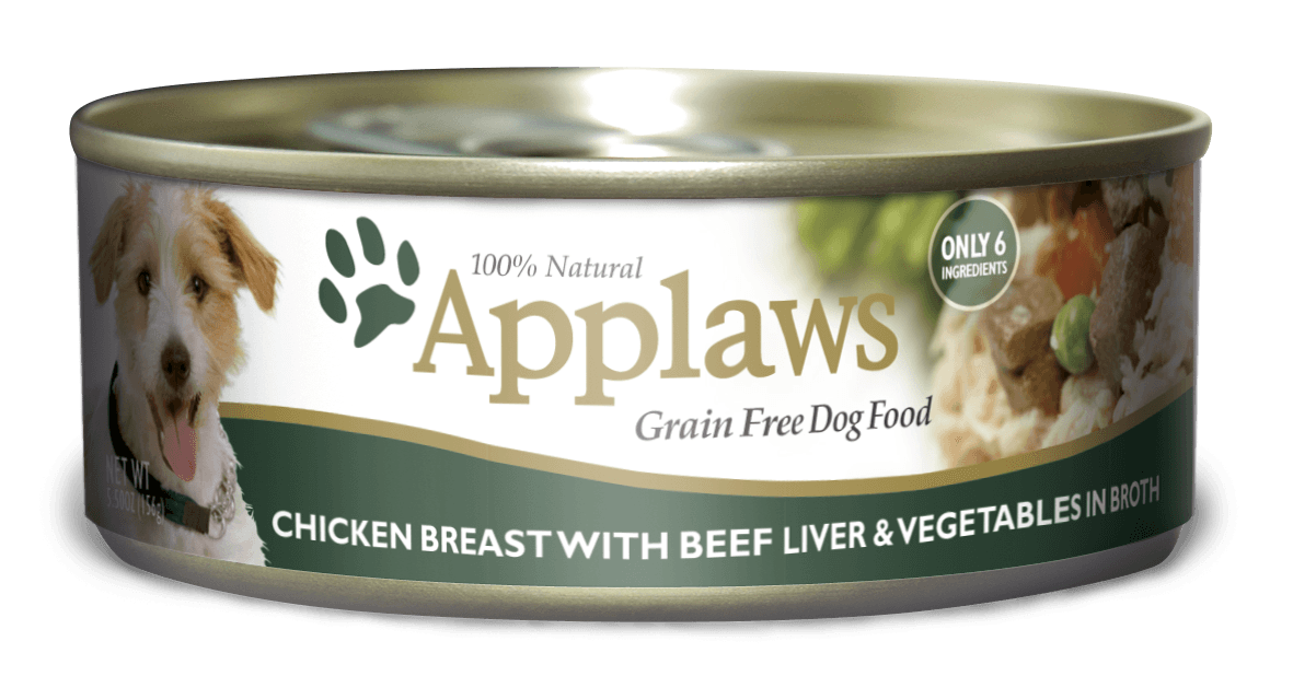 Applaws Dog Chicken Breast, Beef Liver & Vegetables 156gr.