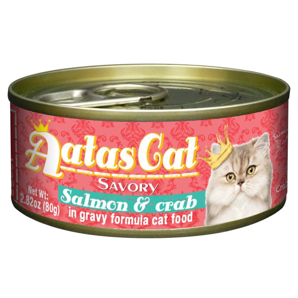 Kačių maistas Aatas Savory Salmon&Crab  80gr
