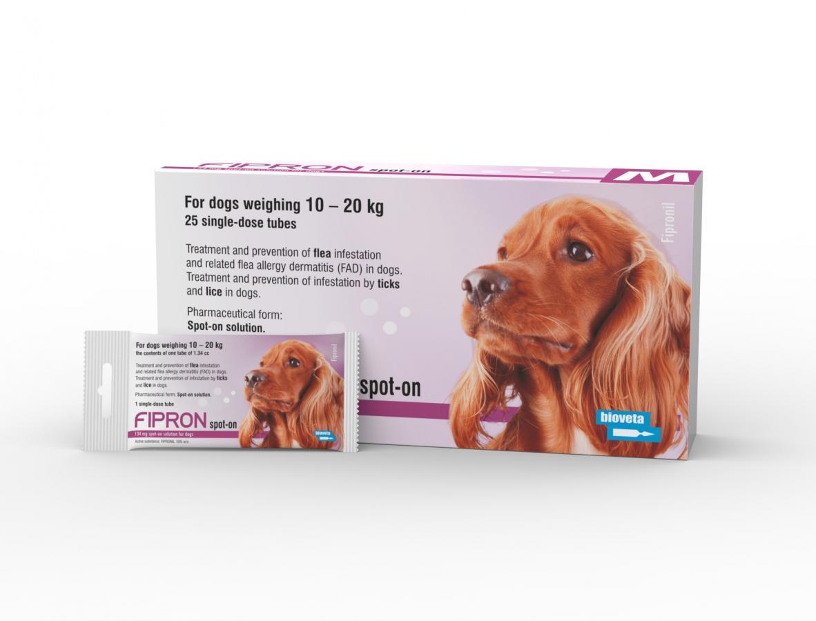 FIPRON 134 mg šunims 10-20kg N1