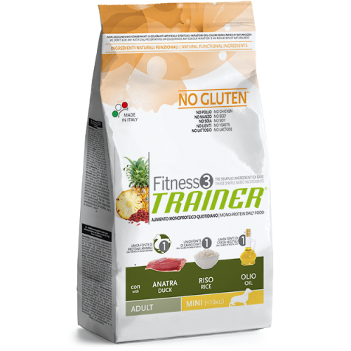 Trainer Fitness 3 Adult Mini Duck-Rice-Oil NO GLUTEN 2kg.