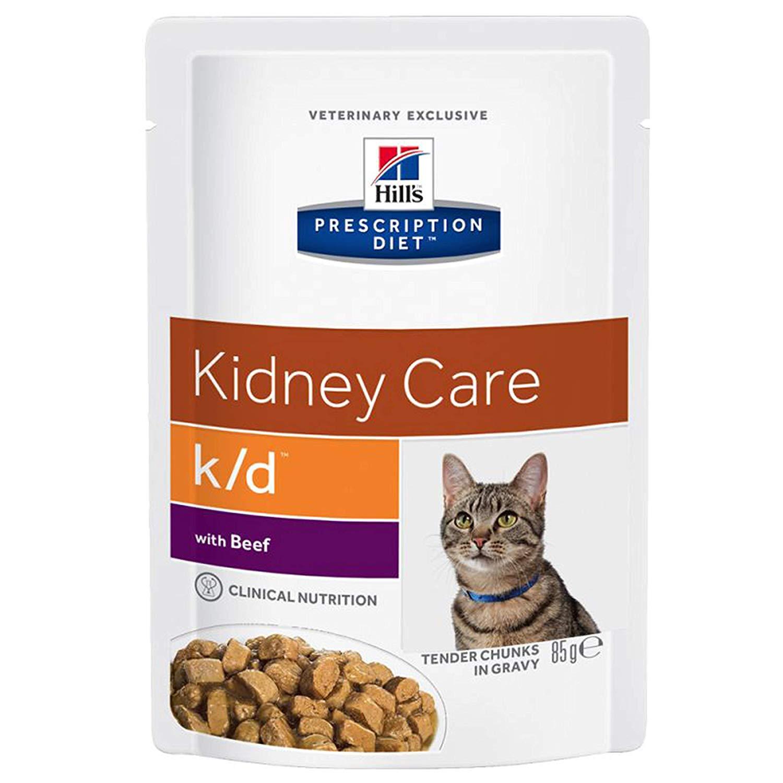Hills Prescription Diet Feline k/d beef 12x85gr