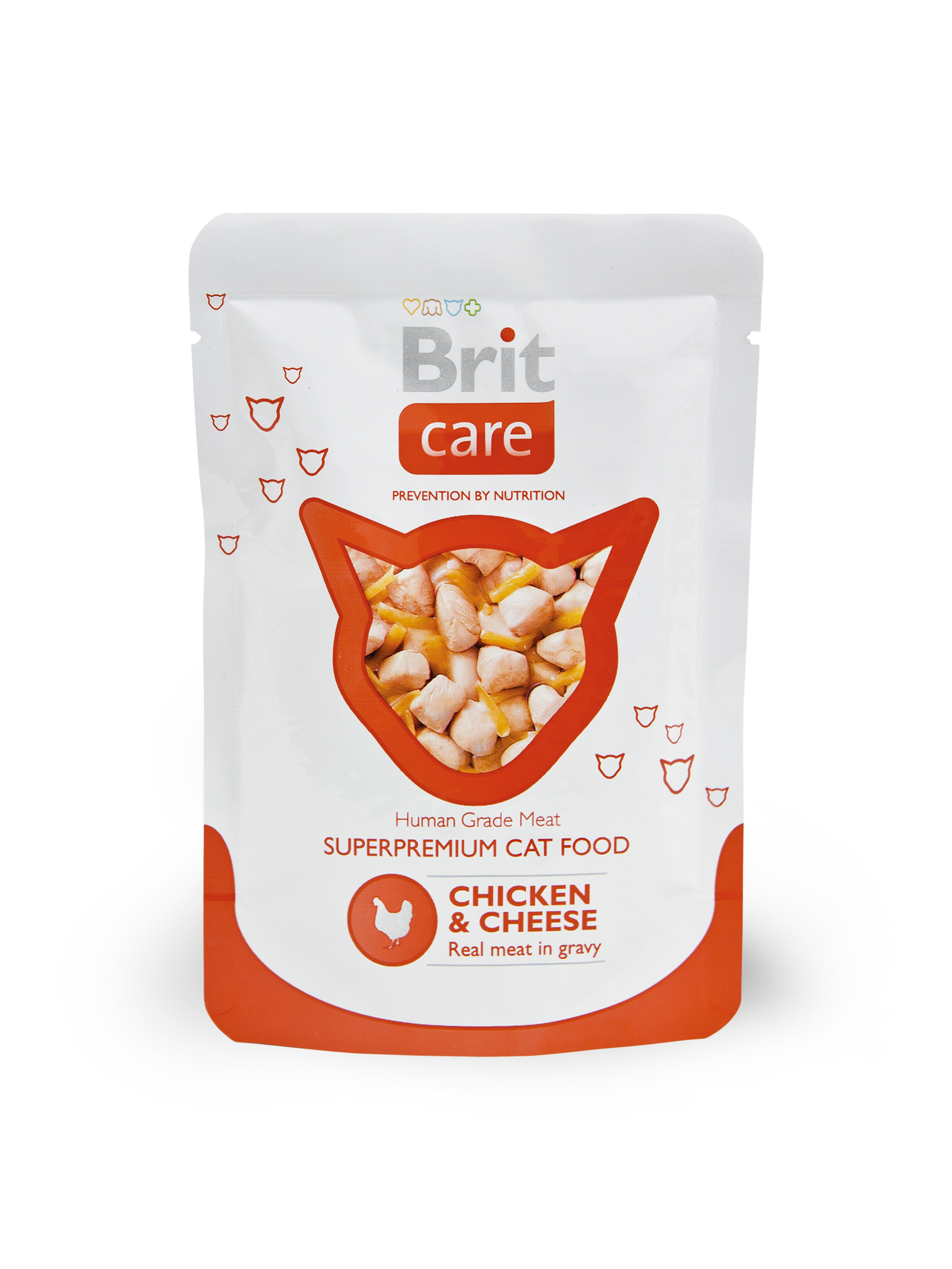 Kačių maistas Brit Care Cat Chicken & Cheese 24 x 80gr.