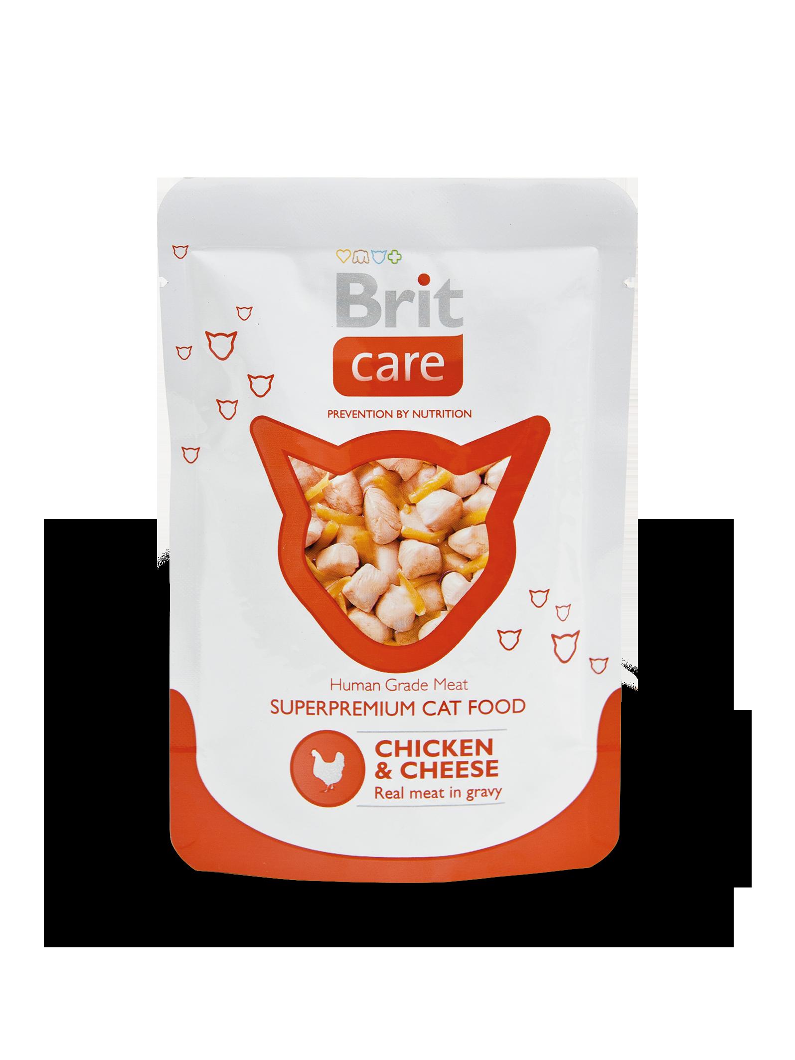 Kačių maistas Brit Care Cat Chicken & Cheese 24 x 80gr.