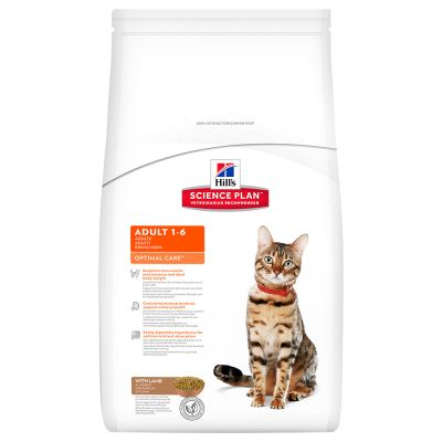 Hills Feline Adult Optimal Care Lamb & Rice 5kg.