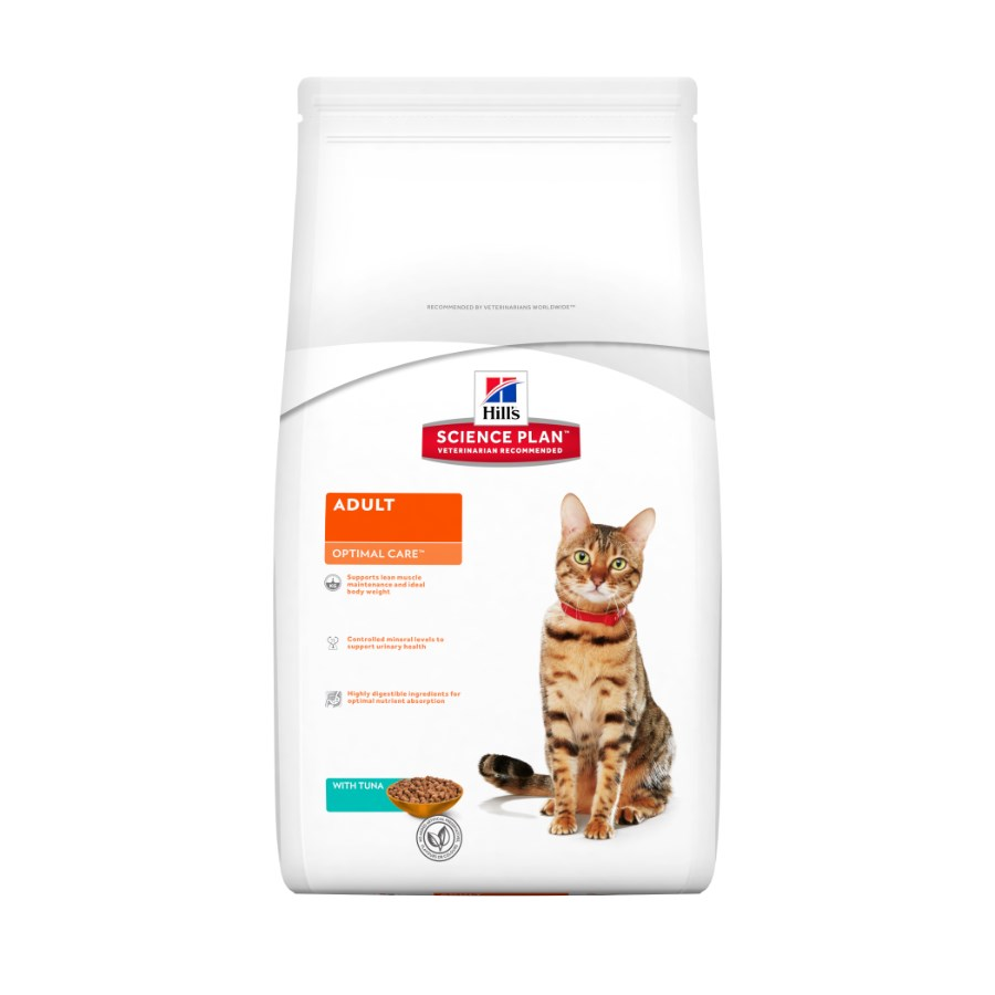 Hills Feline Adult Optimal Care Tuna 5kg.