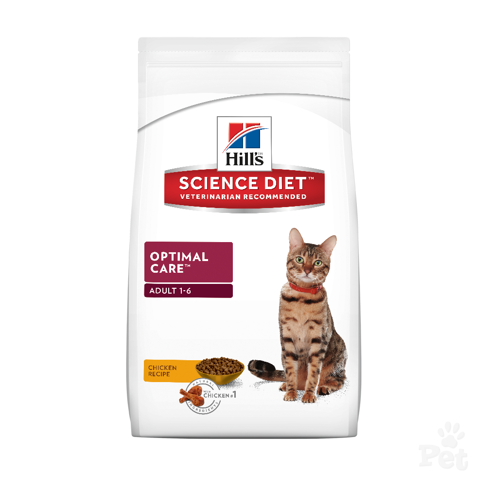 Hills Feline Adult Optimal Care Chicken 5kg.