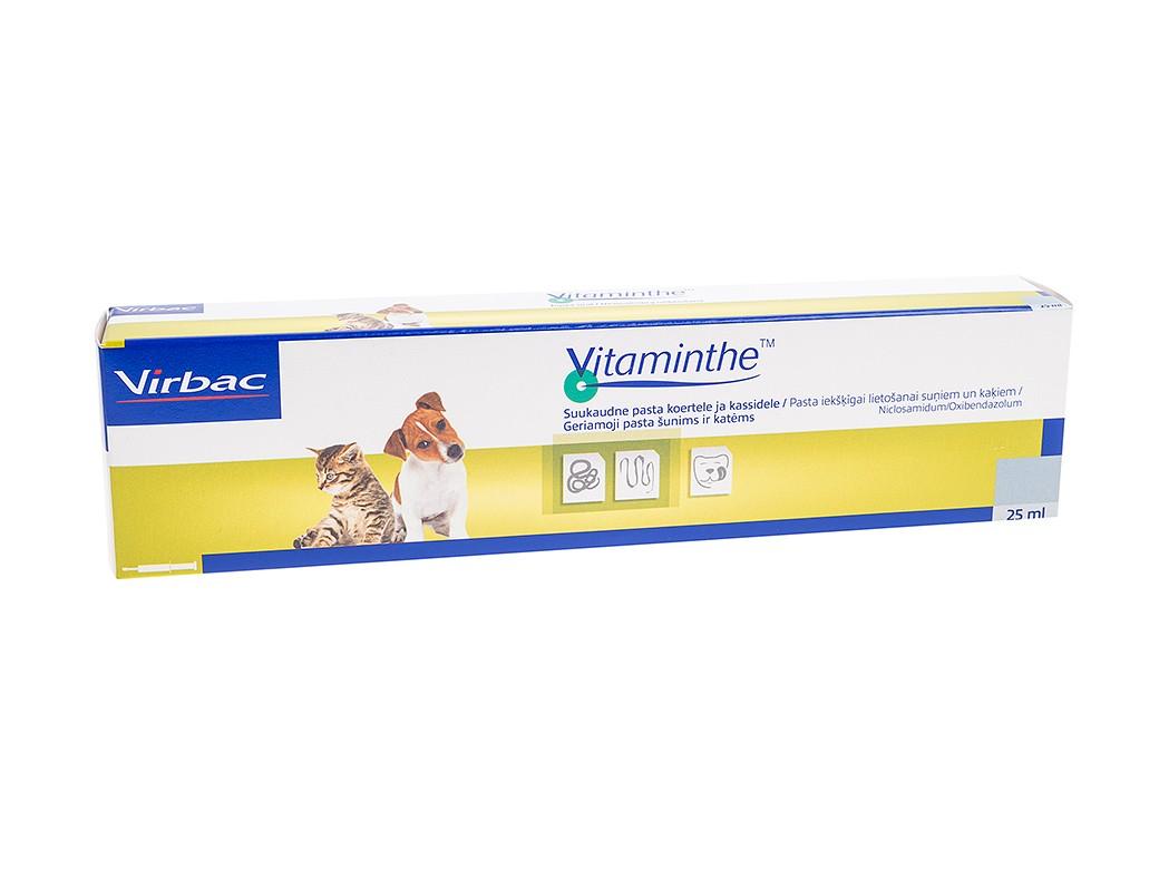 VIRBAC Vitaminthe pasta nuo kirmelių šunims ir katėms, 25 ml