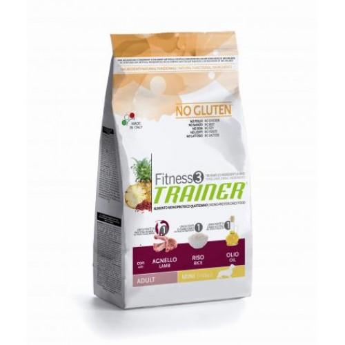 Trainer Fitness 3 Adult Mini NO GLUTEN Lamb*Rice*Oil  2kg.